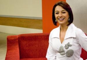 Cátia Fonseca, apresentadora do programa Mulheres, da TV Gazeta. 19.02.2009