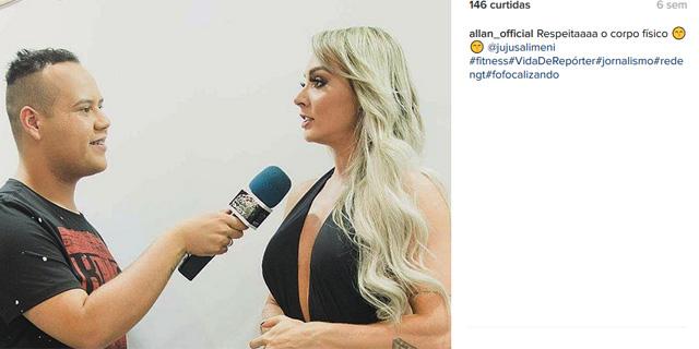 Allan Borges usando a tag #fofocalizando em uma postagem no Instagram