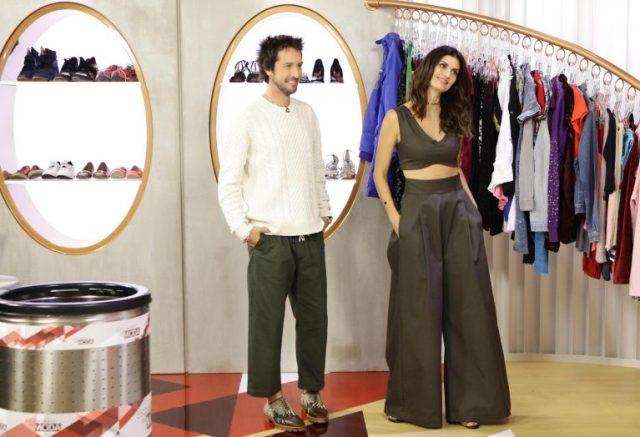 Isabella e Arlindo no cenário novo (Foto Gabriel Cardoso – SBT)